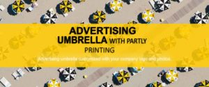 Advertising umbrella banner