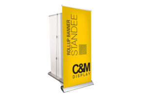 Roll Up Banner Stand Deluxe Heavy Model